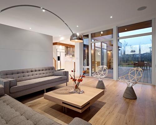 phòng khách gỗ sồi trắng