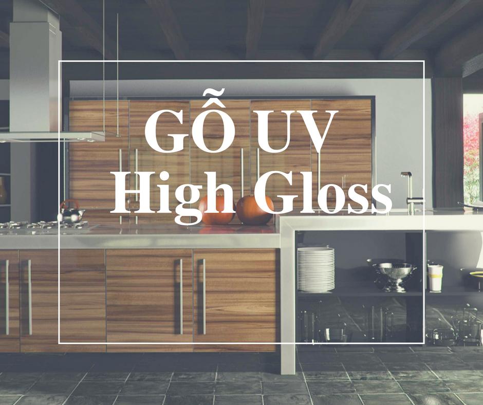 Gỗ UV bóng gương High gloss