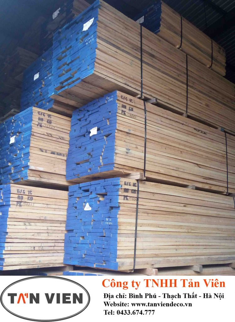 gỗ sồi xẻ sấy nhập Mỹ