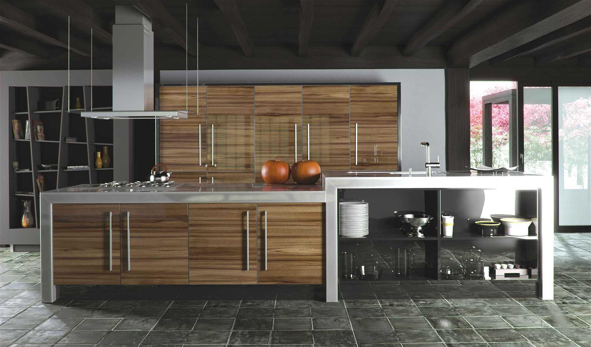 Tủ bếp gỗ UV Bóng gương
