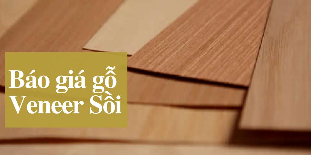 Giá gỗ veneer sồi